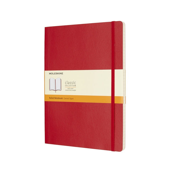 Moleskine Classic Soft Cover Notebook Ruled Extra Large Scarlet Red - Pencraft the boutique