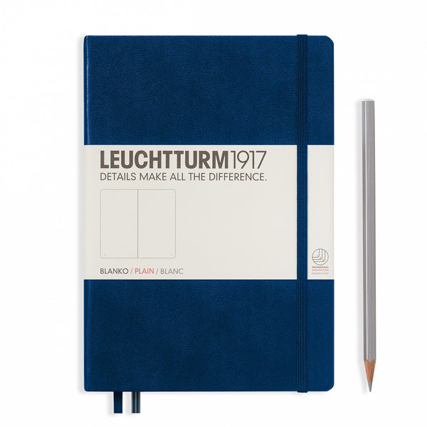 Leuchtturm1917 Notebook Medium (A5) Plain Navy - Pencraft the boutique