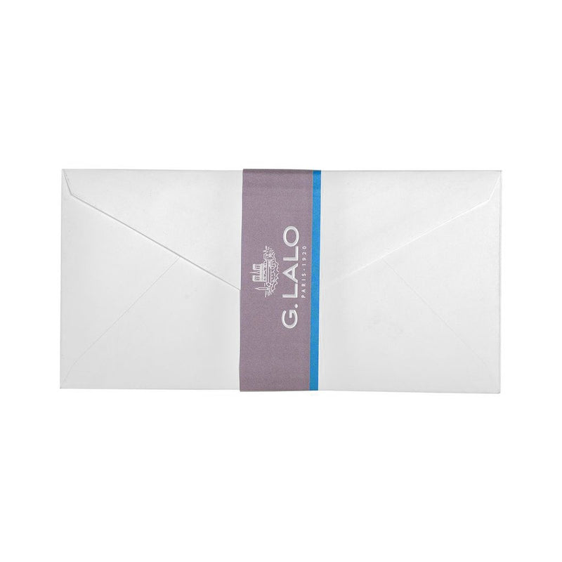 G.Lalo Envelopes Velin De France DL White Pack of 20 - Pencraft the boutique