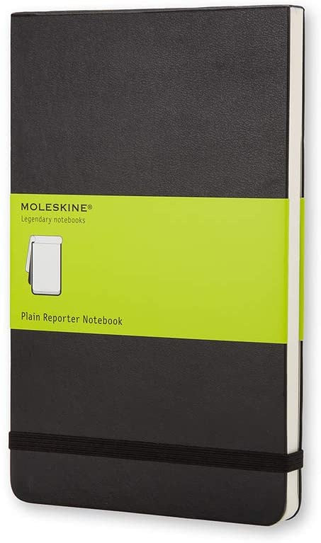 Moleskine Classic Hardcover Reporter Notepad Large Plain Black - Pencraft the boutique