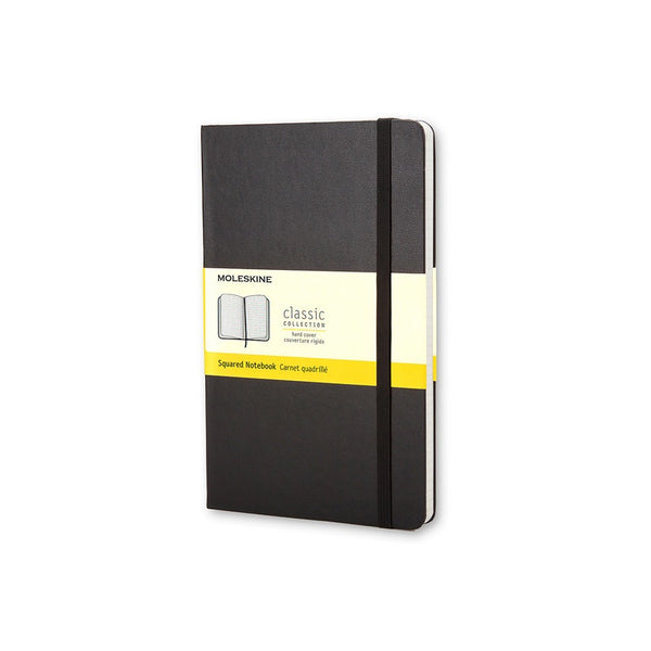 Moleskine Classic Hard Cover Notebook Grid Large Black - Pencraft the boutique
