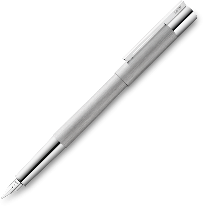 LAMY Scala Brushed Stainless Steel Fountain Pen - Pencraft the boutique