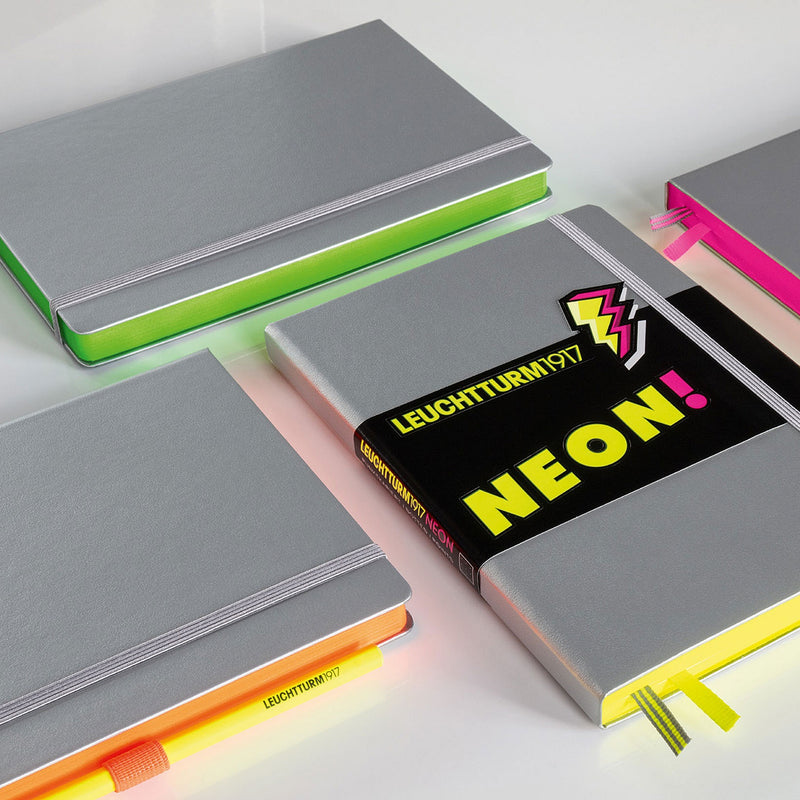 Leuchtturm1917 Notebook Medium (A5) Dotted Neon Pink - Pencraft the boutique