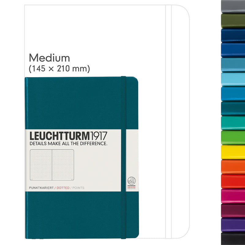 Leuchtturm1917 Notebook Medium (A5) Dotted Pacific Green - Pencraft the boutique