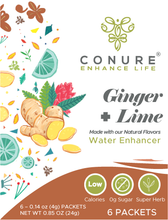 Load image into Gallery viewer, Ginger + Lime Water Enhancer