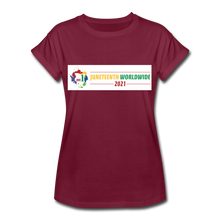 Load image into Gallery viewer, Women's Relaxed Fit T-Shirt - burgundy