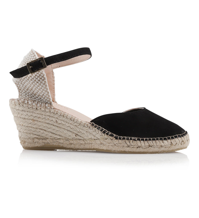 Shoe Biz Frey 5 Rows Canvas Espadrilla Black