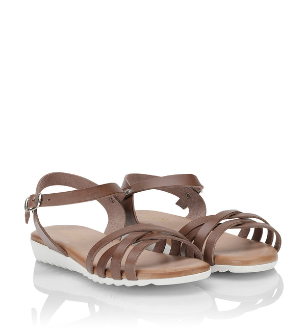 Shoe Biz Gaelle Sandal - Soft Dark Brown