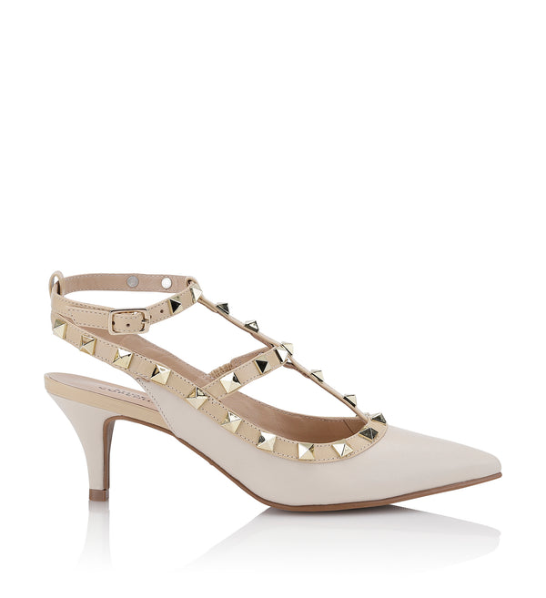 Shoe Biz Helene Sling Back Off white / Gold