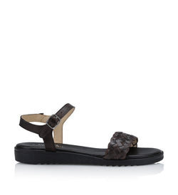 Shoe Biz Kant Eco Trenzado Sandal - Soft Dark Brown