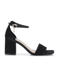 Shoe Biz Moon Nubuck Sandal Black