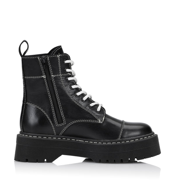 Shoe Biz Numra Short Boot Black