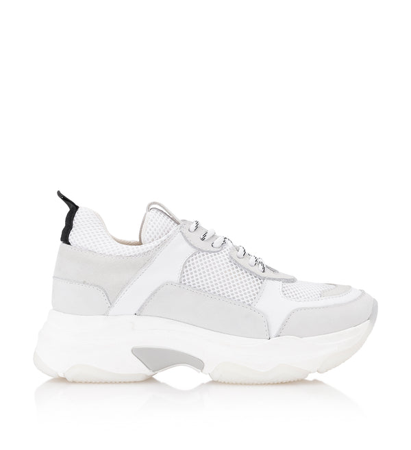 Shoe Biz Rad White Mix Sneaker White
