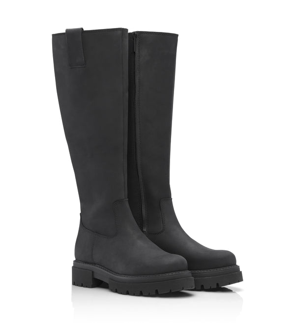 Shoe Biz Skin Long Boot Black
