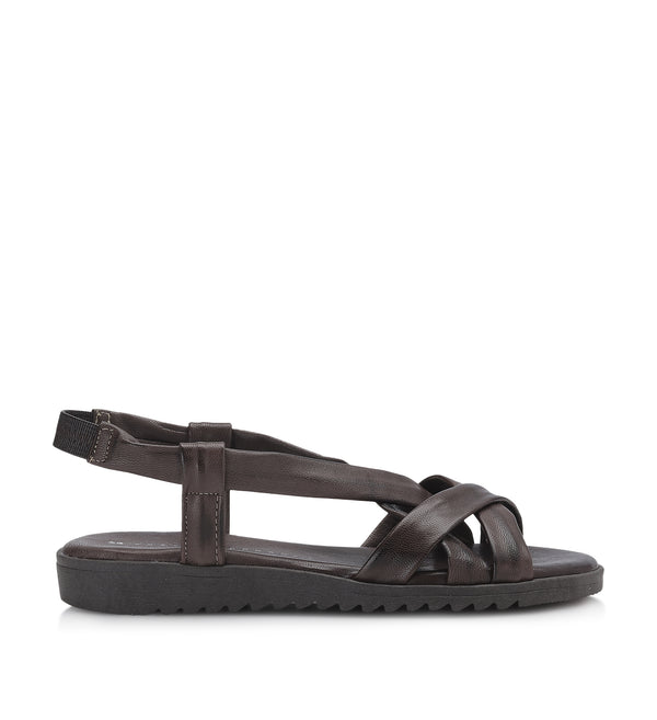 Shoe Biz Stellaro Sandal - Soft Dark Brown