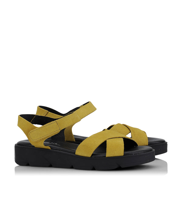 Shoe Biz Tatu Sandal - Soft Yellow