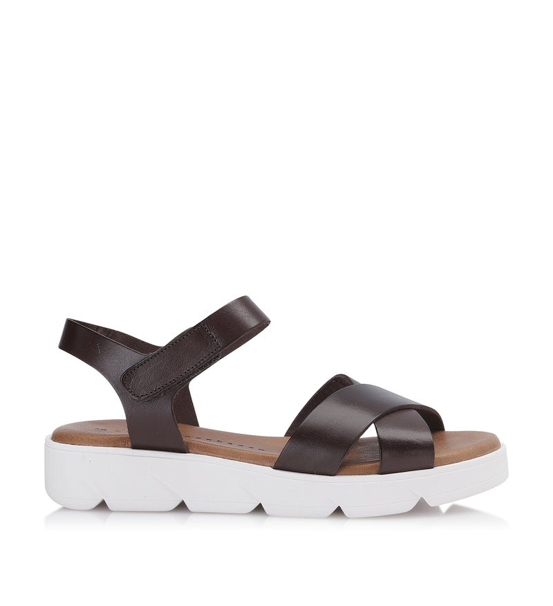 Shoe Biz Tatu Vaqueta Sandal - Soft Brown