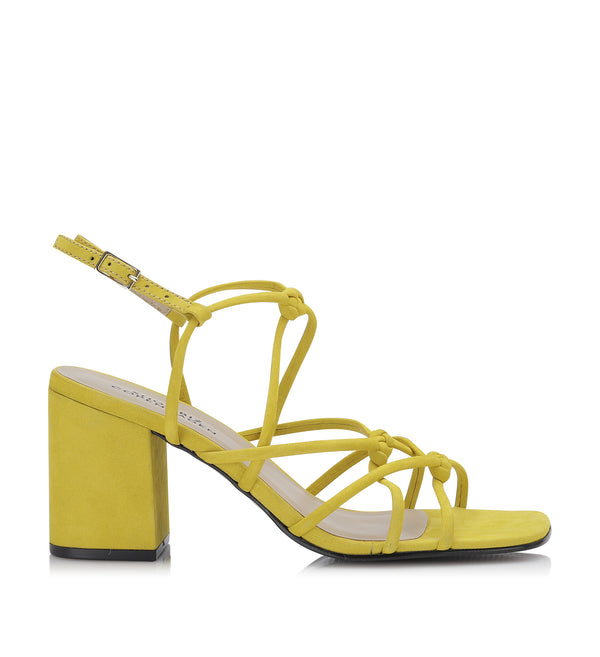Shoe Biz Tia Nubuck Sandal Yellow