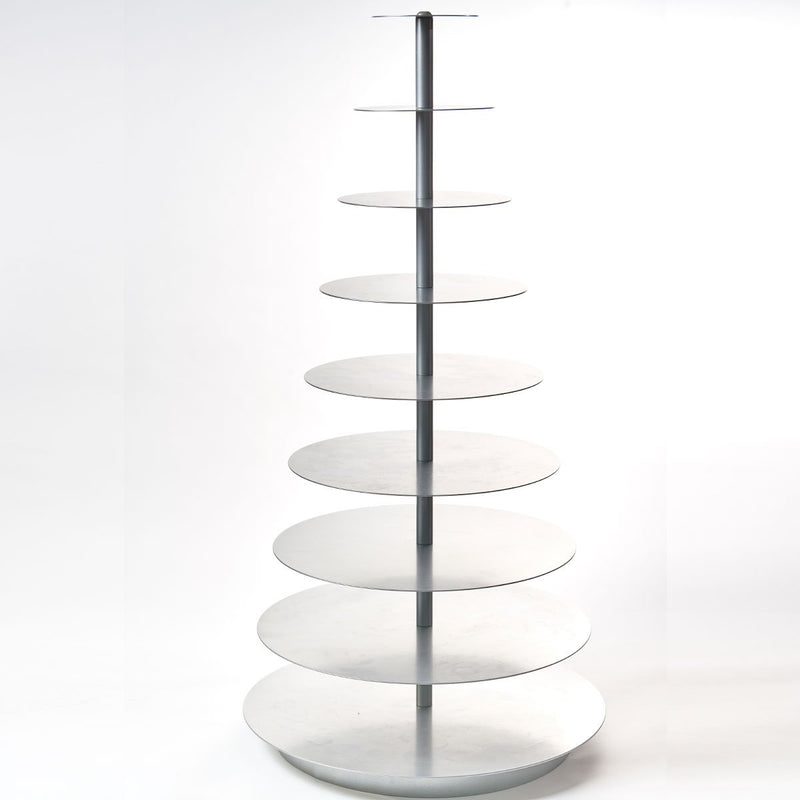 9 Tier Silver Cupcake Stand Rental