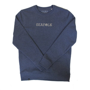 Iconic Crew - Heather Blue - Embroidered