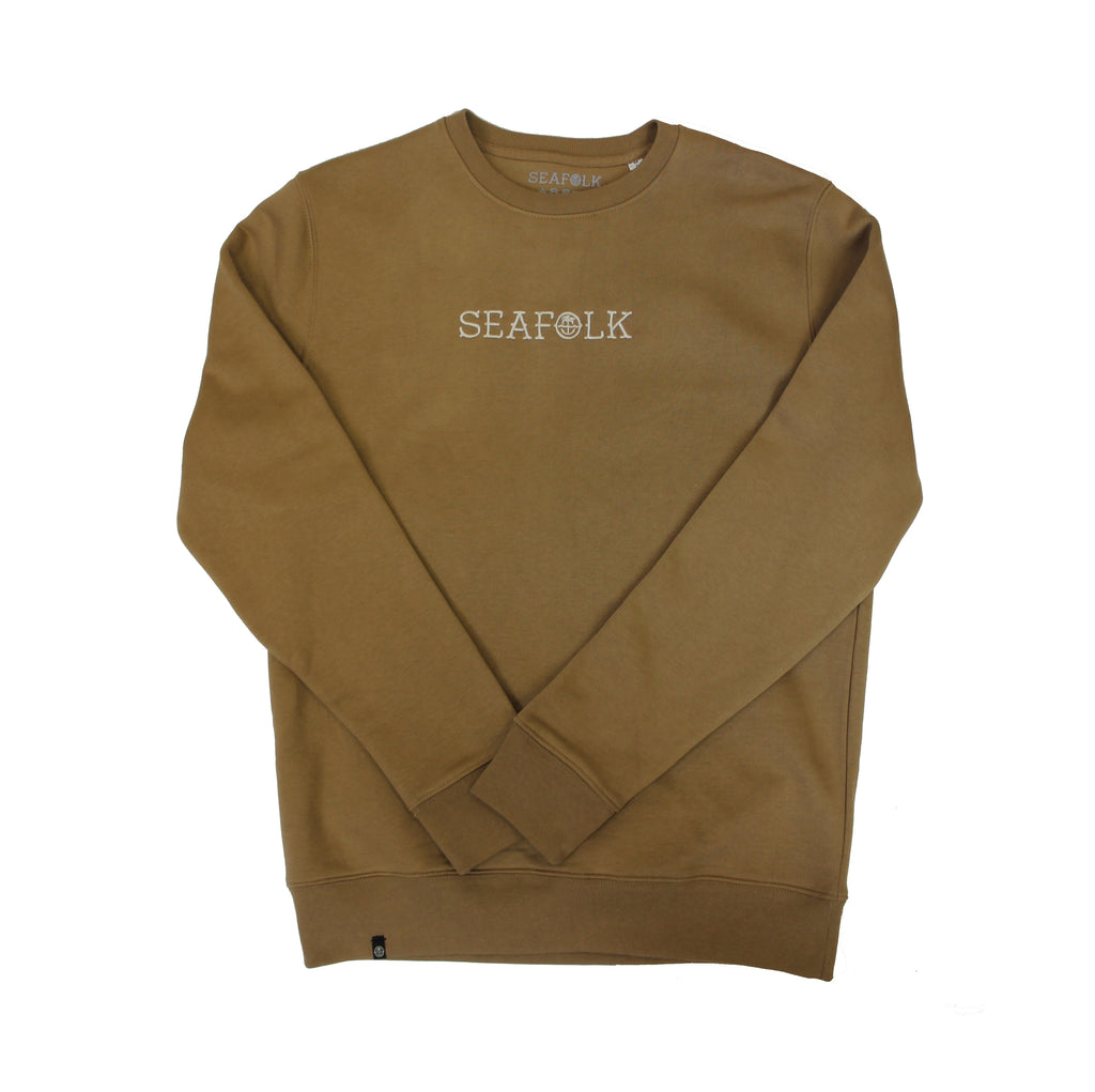 Iconic Crew - Camel - Embroidered