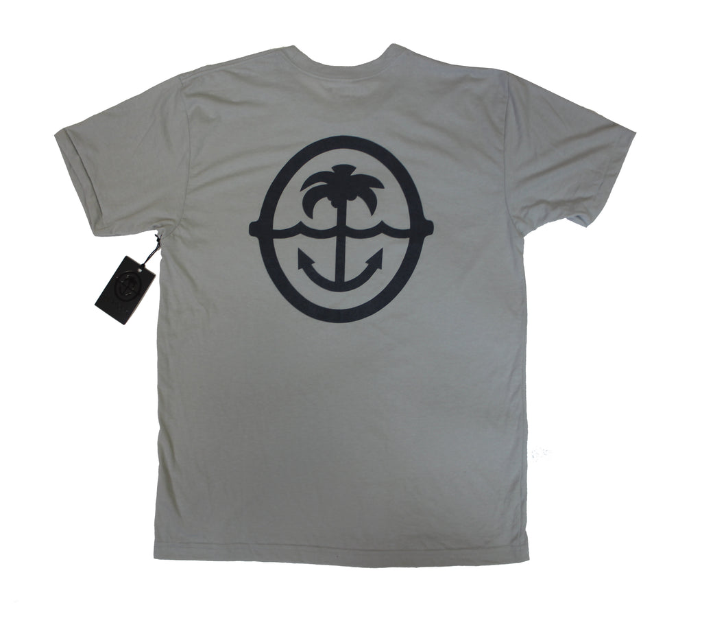 Palm & Anchhor - Silk Screened Tee - New Silver