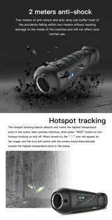 Thermal & Infrared Tactical Scope with Hotspot Tracking