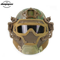 Airsoft Tactical Camouflage Helmet with Full Face Protective Mask