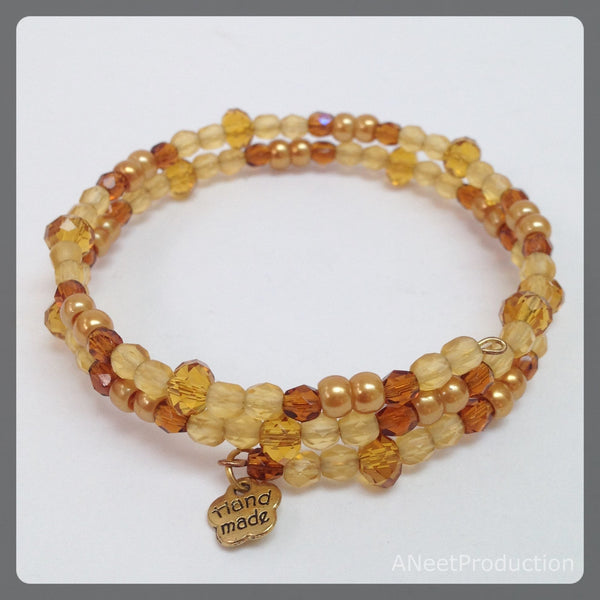 Amber & Brown Eternal Bangle