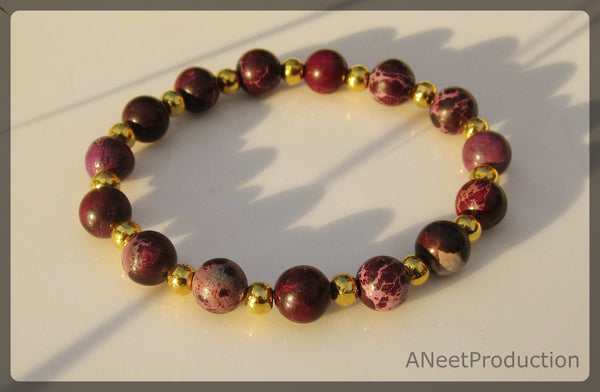 Purple Regalite Stretch Bracelet