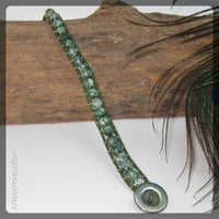 Mottled Green Jasper Wrap Bracelet