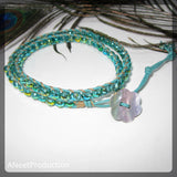 'Mermaid' Double-Wrap Bracelet