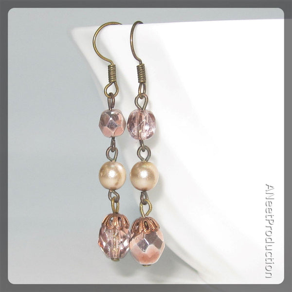 Vintage Pink Earrings
