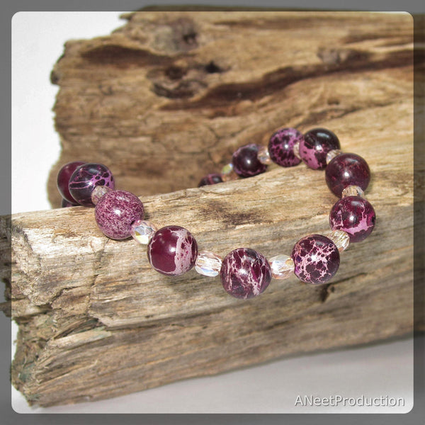 Purple Sea Sediment Jasper (Regalite) Bracelet