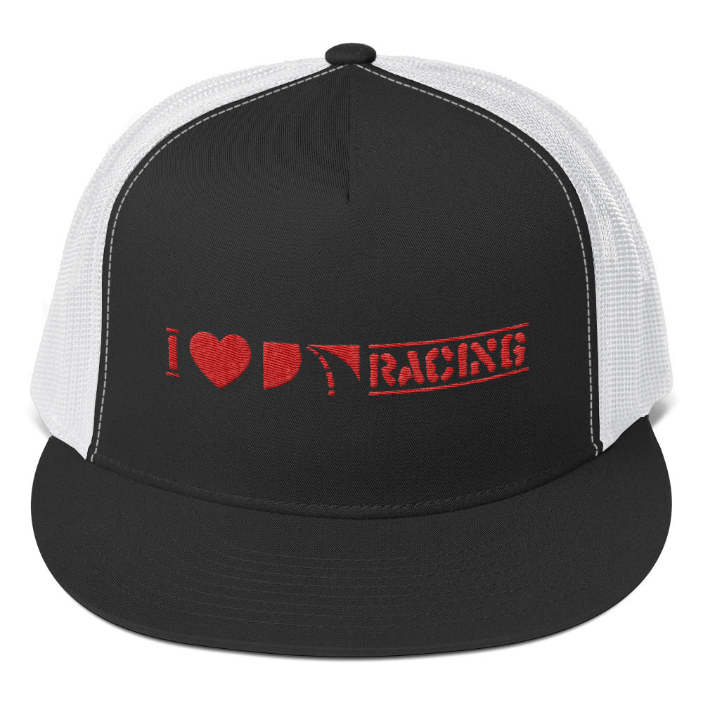I Love Racing Trucker Cap