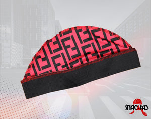 "Pink ""Fendi"" Designer Compression Cap"
