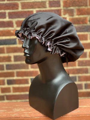 """Black"" Silk Bonnet"