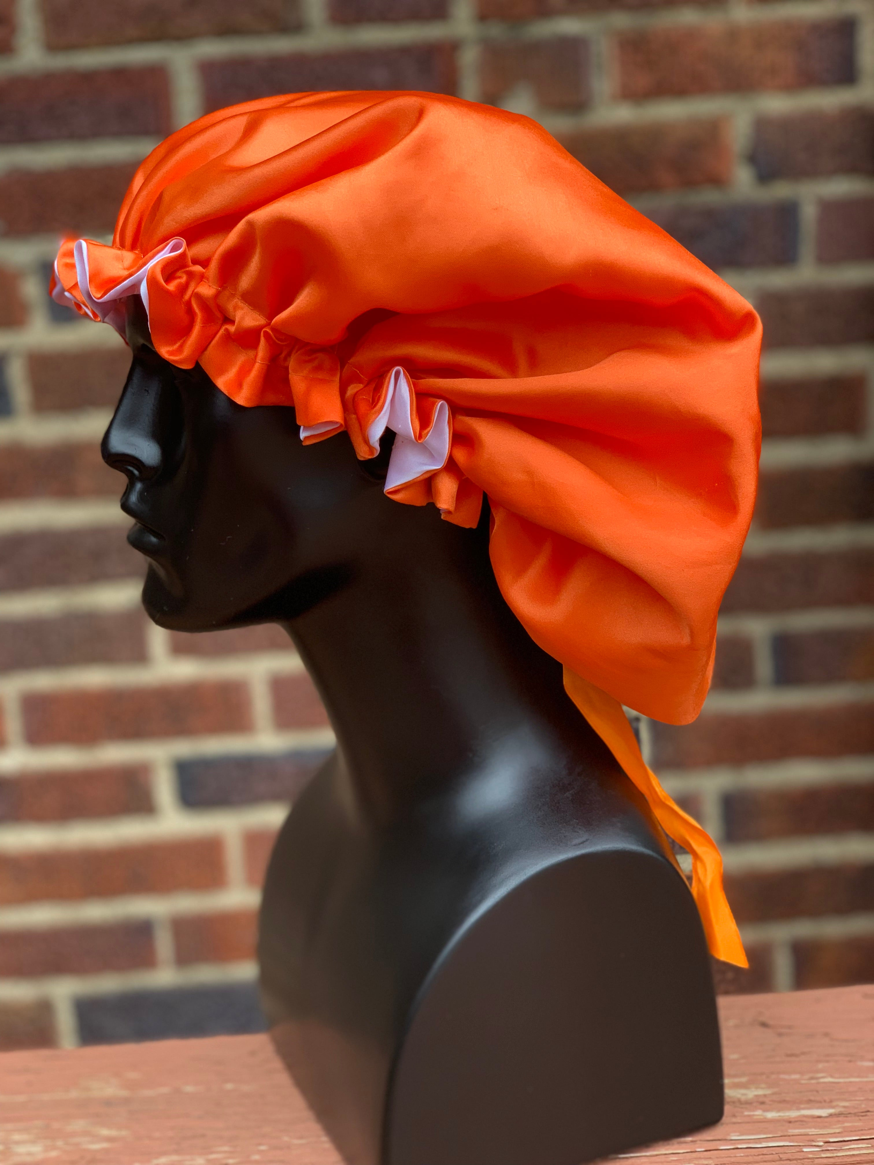 """Orange"" Silk Bonnet"