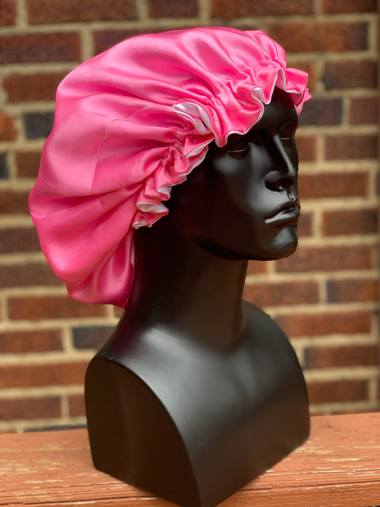 """Bubble Gum"" Silk Bonnet"