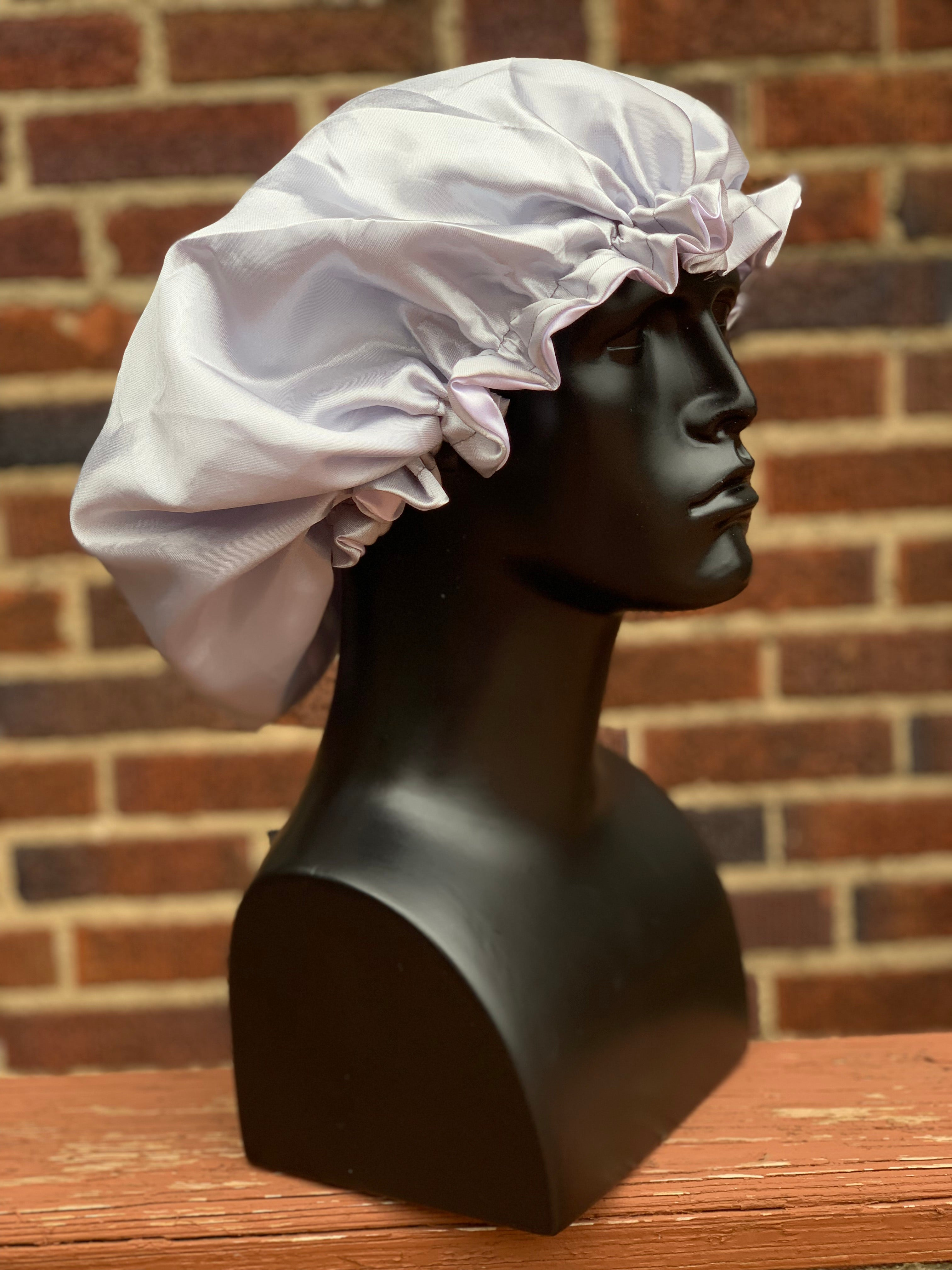 """Wolf Gray"" Silk Bonnet"
