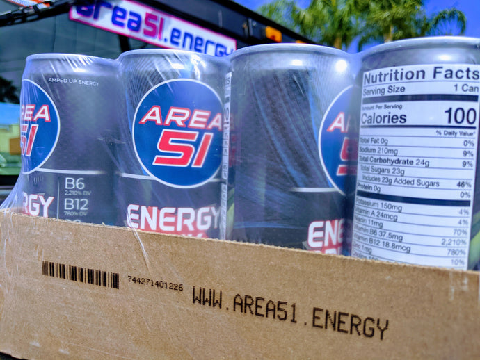 Area 51 Energy 12oz  -- 12 pack (tray) - Blank Space (Mixed Berry)