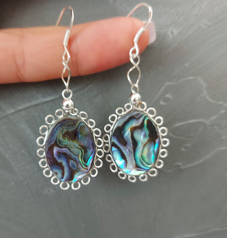 Boucles vintages nacre abalone
