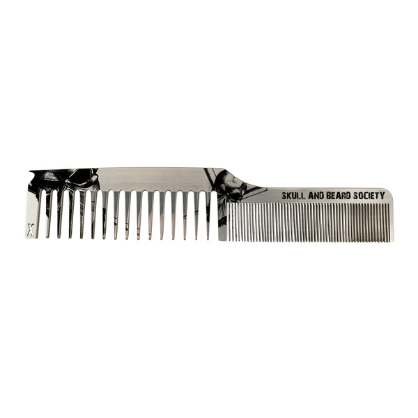 Black Badge Dual Tooth Comb - Skull and Beard Society