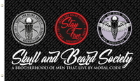 SBS Flags - White or Black - Skull and Beard Society