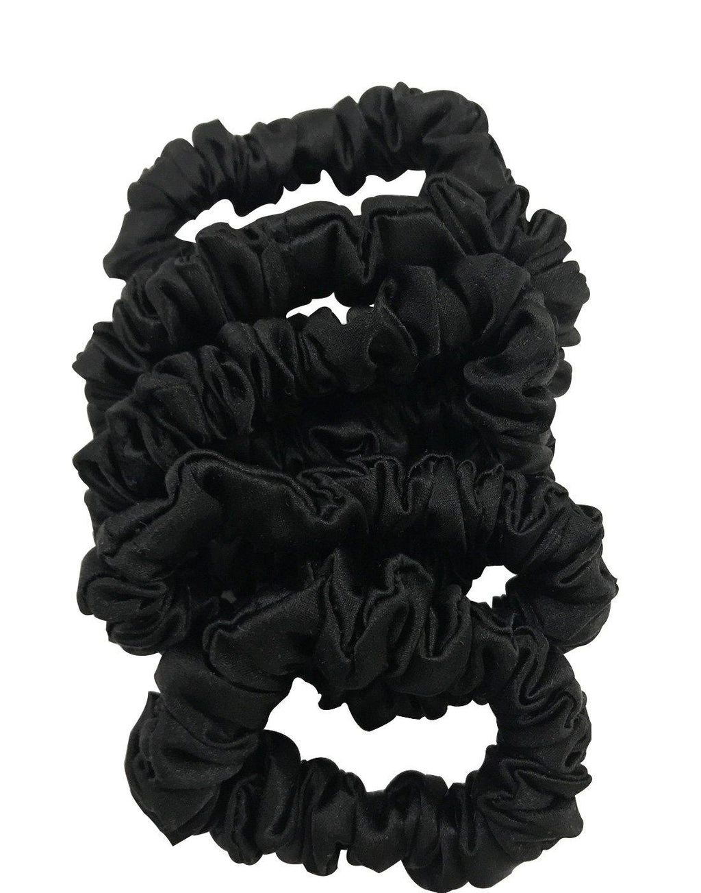 Silk Slim Scrunchies Set of 5