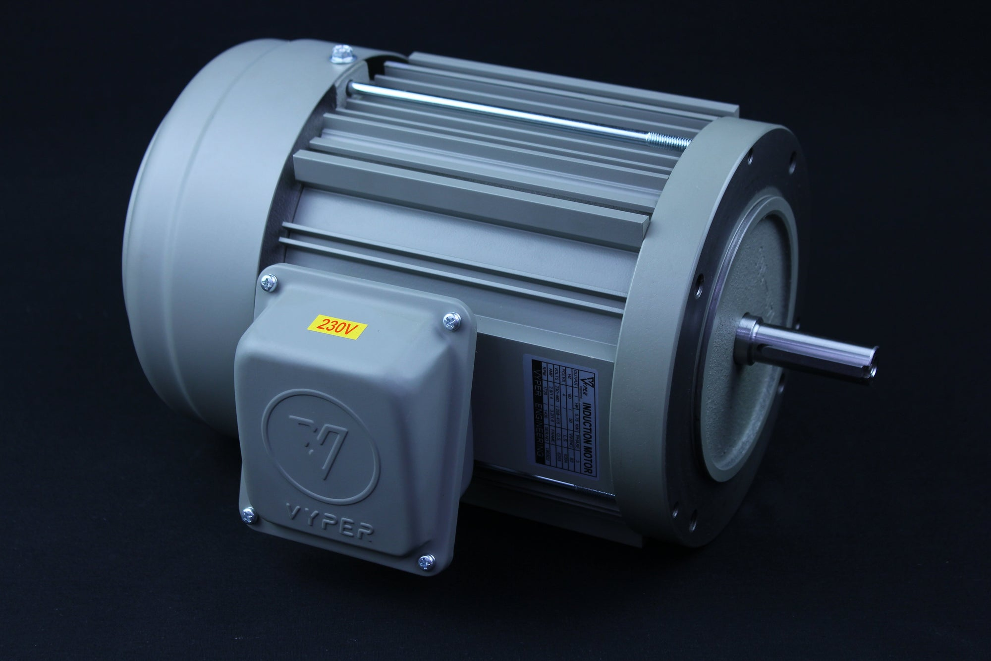 Three Phase - 1HP - 208-230/460V - 3000/3600RPM - 50/60HZ - 56 - Foot - IE1