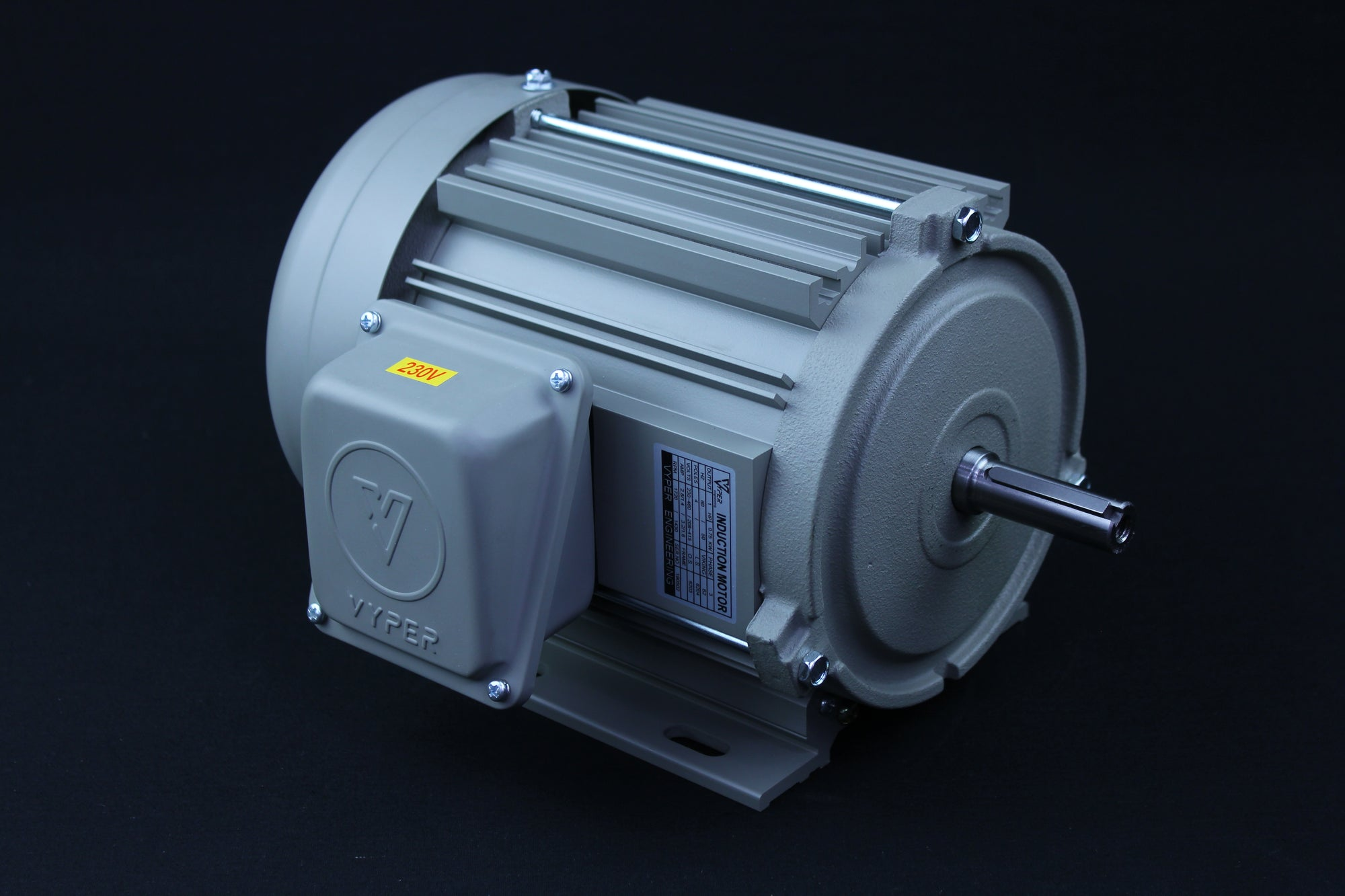 Three Phase Electrical Motor - 1HP - 208-230/460V - 1430/1720RPM - 50/60HZ - 56 Foot