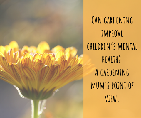 Flower representing children's gardening and mental health