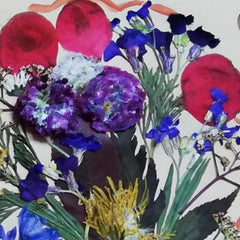 Artwork created with pressed dried flowers