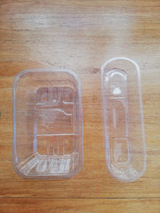 Empty food containers